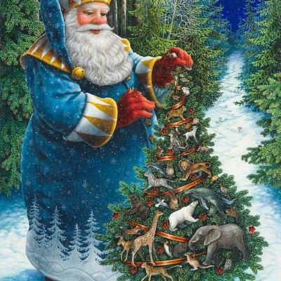 Santas christmas tree por Lynn Bywaters