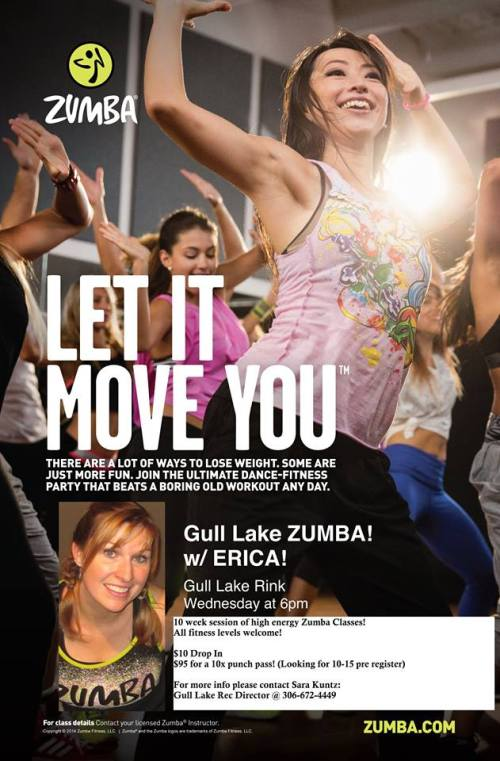 Gull Lake Zumba is starting up again on January 21! GULL LAKE Health & Wellness