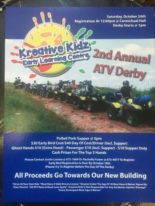 Kreative Kidz 2nd Annual ATV Derby Education GULL LAKE SouthWest Saskatchewan  Kreative Kidz Early Learning Center Events