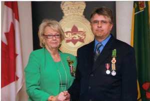 Blake Campbell receives Public Service MEDAL