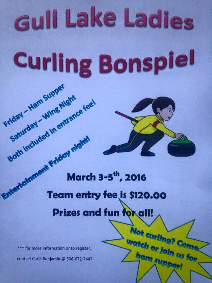 Gull Lake Ladies Curling Bonspiel GULL LAKE Health & Wellness  Gull Lake Curling Rink Events