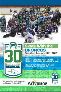 Skate with the Broncos Advertisement