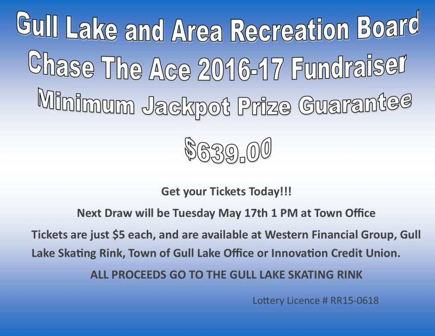 Bea Wand Wins this Weeks Chase the Ace Draw GULL LAKE  Gull Lake Recreation Complex