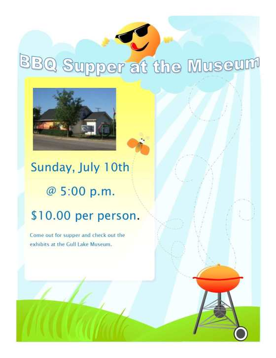 BBQ Supper at the Gull Lake Museum GULL LAKE  Gull Lake Museum Events Community