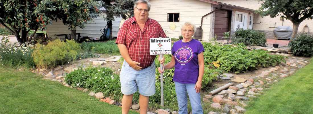 Lee McNabb Winner of the 2016 Vegetable Garden Competition GULL LAKE Town Beautification  Community Communities in Bloom