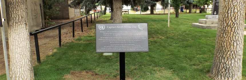 "Everyone is invited to the Cenotaph August 9th for the Unveiling of the ""Captain Kieth Mirau Day"" Plaque GULL LAKE Town Beautification  Events"
