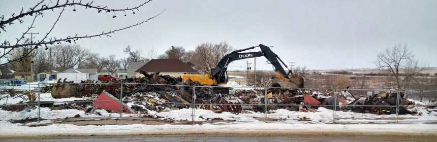 Cleanup of the Clarendon Hotel Lot Underway Government GULL LAKE  Town Council Mayor's Report