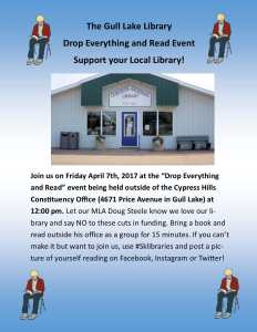Drop Everything And Read – Support of your local Library!