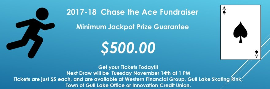 TAYLOR DUTTON WINS THIS WEEKS CHASE THE ACE DRAW GULL LAKE  Gull Lake & Area Recreation Board