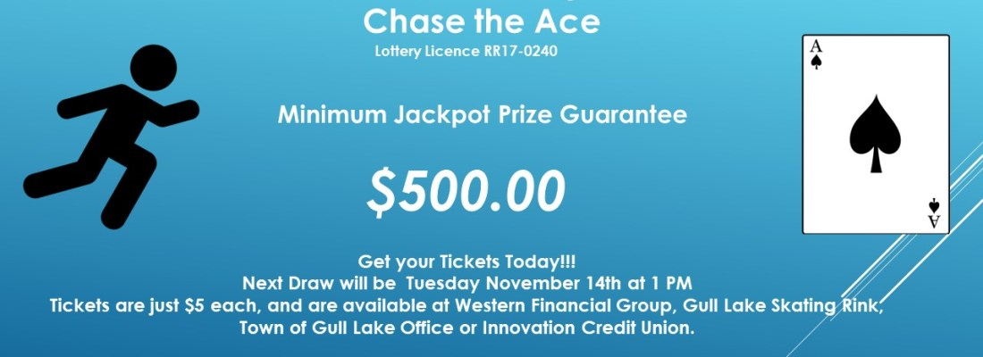 DWAYNE LAVOIE WINS THIS WEEK'S CHASE THE ACE DRAW GULL LAKE  Gull Lake Recreation Complex Community