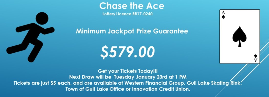 DOUG RITTWAGE WINS THIS WEEK'S CHASE THE ACE DRAW GULL LAKE  Gull Lake Recreation Complex Community