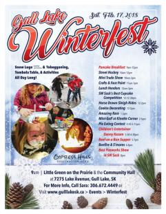 Gull Lake Winterfest Thanks Sponsors and Volunteers Business GULL LAKE Tourism  Winterfest Small Business Events