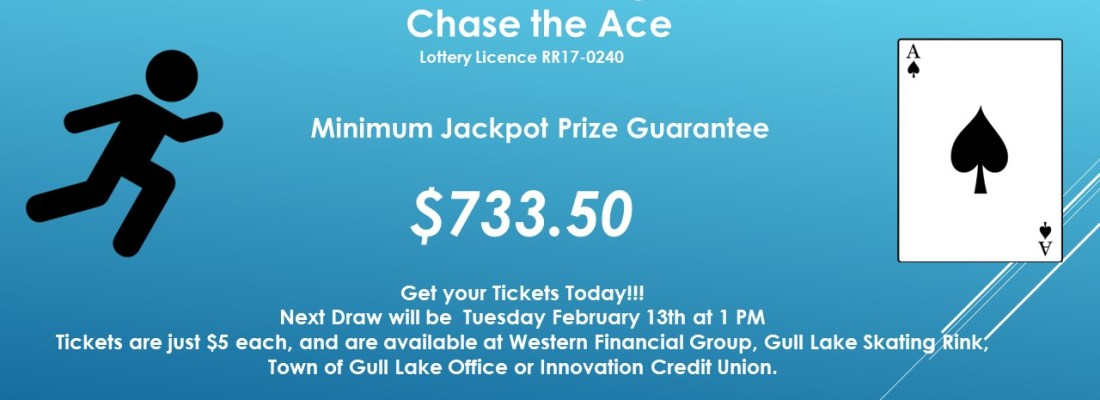 PAM KIRWAN WINS THIS WEEK'S CHASE THE ACE DRAW GULL LAKE  Gull Lake Recreation Complex Community