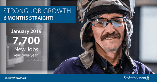 Six Consecutive Months Of Job Growth In Saskatchewan Agriculture Economic Development SouthWest Saskatchewan  Saskatchewan Jobs Government of Saskatchewan