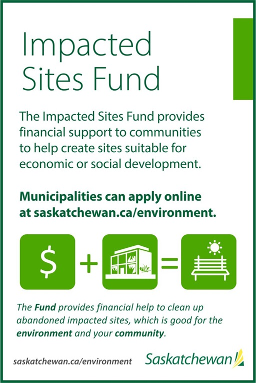 Government Of Saskatchewan Now Accepting Applications For Impacted Sites Fund SouthWest Saskatchewan  Saskatchewan Government of Saskatchewan Environment