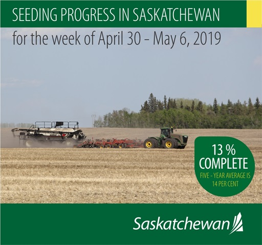 Crop Report For The Period April 30 To May 6, 2019 Agriculture SouthWest Saskatchewan  Crops