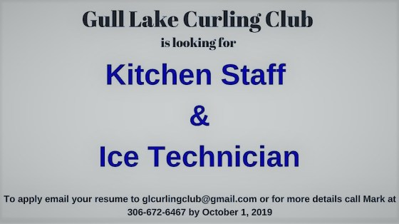 Gull Lake Curling Club Job Opportunities GULL LAKE  Jobs Gull Lake Curling Rink