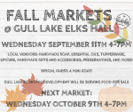 Fall Markets at the Elks Hall