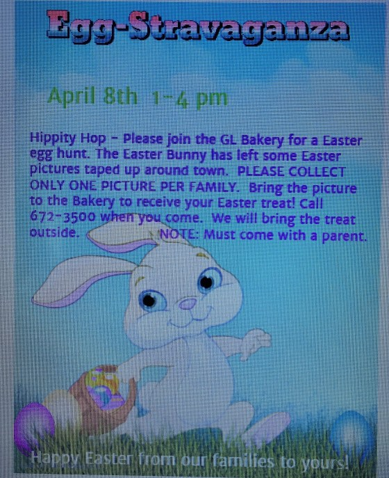 Gull Lake Bakery Easter Egg Hunt Business GULL LAKE Health & Wellness  Small Business Community