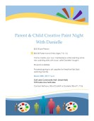 Parent Child Paint Night