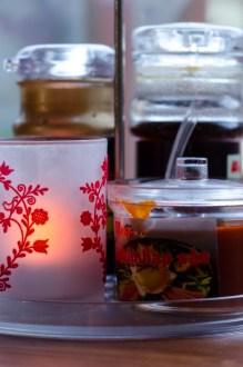 Bibimbapsås och juleljus