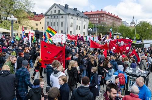 Samling på Medborgarplatsen