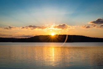 Solnedgång på Kalvfjärden