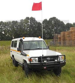 Toyota Landcruiser HZJ78 equipamiento minas vehiclestaxfree