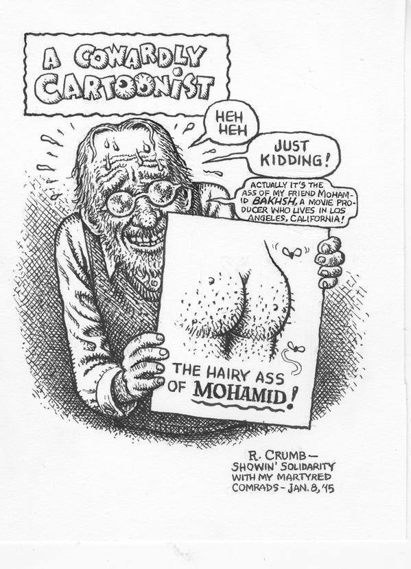 R.Crumb's comment on Charlie Hebdo