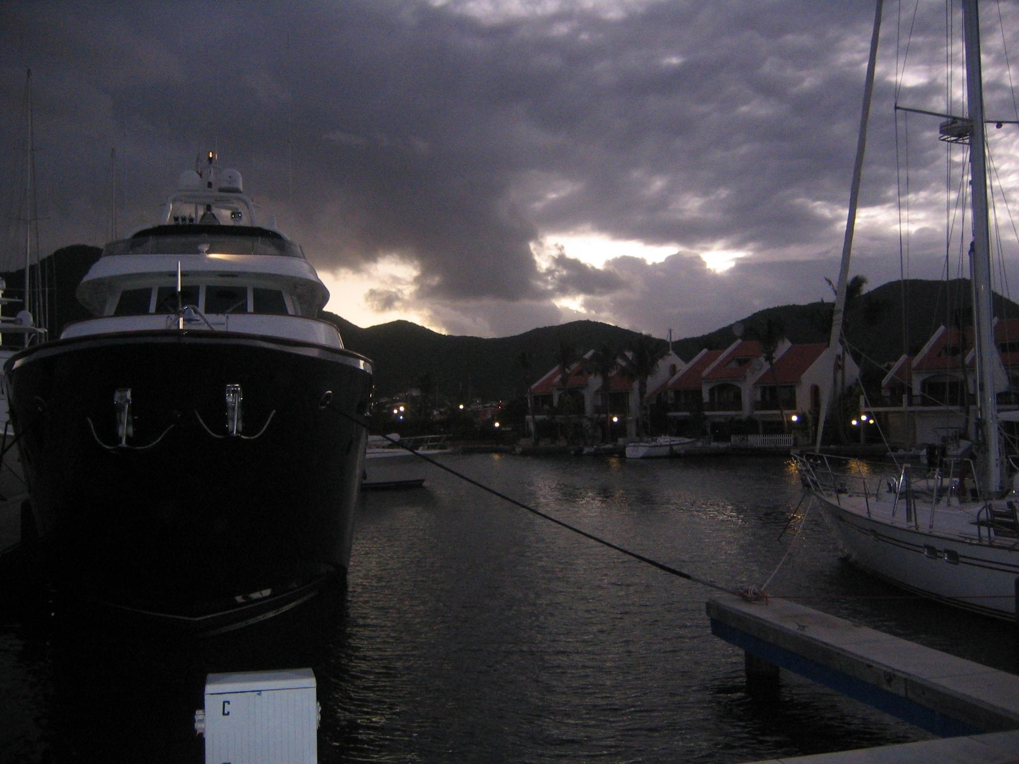 Daybreak at Simpson Bay Marina