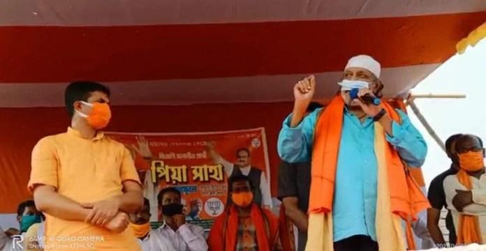 Mithun predicts BJP win in West Bengal during his election speech in Birbhum