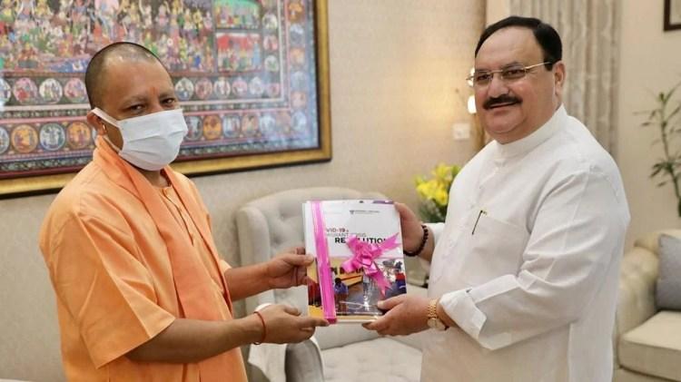 CM Yogi meets BJP chief JP Nadda after PM Modi