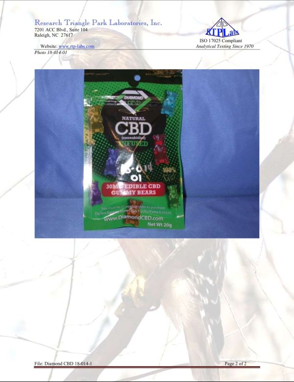 Lab Report Diamond CBD Gummies 2 9