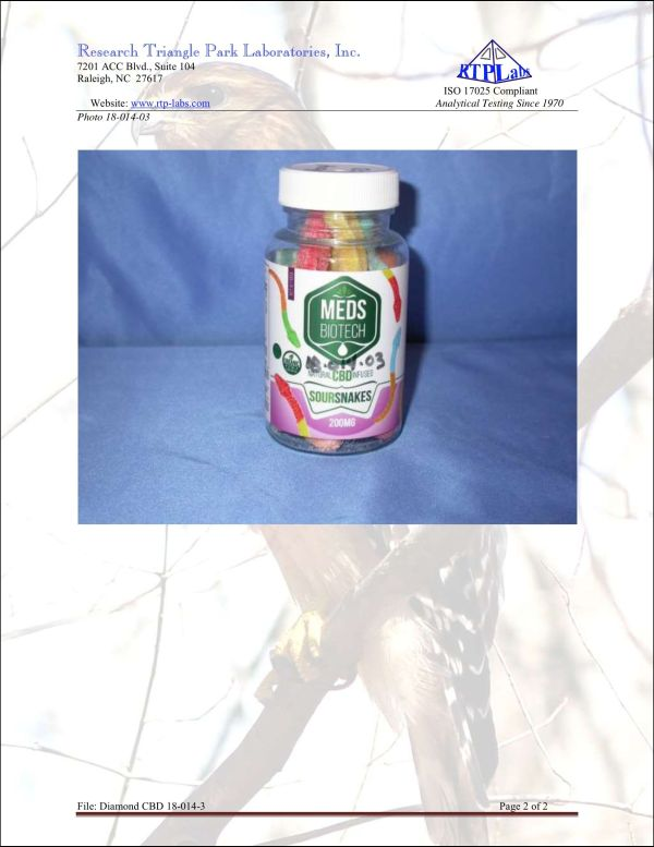 Lab Report Meds Biotech Gummies 2 6