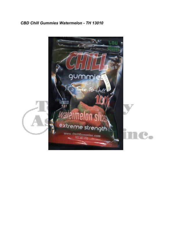 Synthetic Cannab. Analysis CBD Chill Gummies Watermelon TH 13010 5 24 08 Revised 3 10