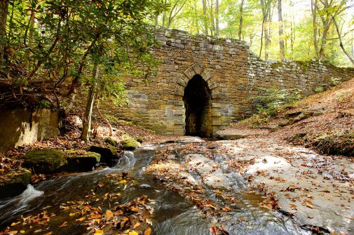 The 1820 Poinsett Bridge, in Travelers Rest, is SC's most historic.