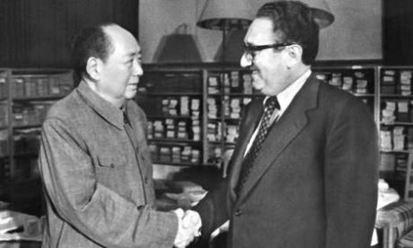 Mao and Kissinger in 1973.