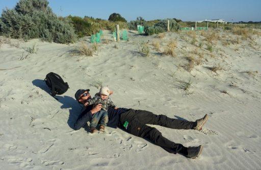 Erschöpft am Strand von Fremantle