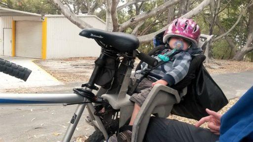 Rottnest Island Benno schläft im Fahrradsitz