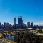 Panorama der Skyline von Perth CBD vom Kings Park