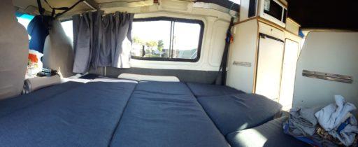 Unteres Bett im Campervan
