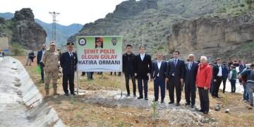 ŞEHİT POLİS OLGUN GÜLAY ANISINA GÜMÜŞHANE'DE HATIRA ORMANI OLUŞTURULDU