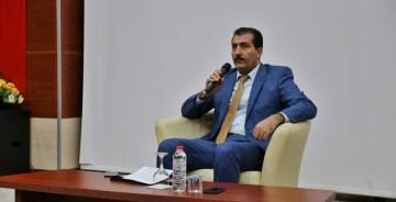 AZERBAYCAN ESKİ CUMHURBAŞKANI'NIN DAMADI GÜMÜŞHANE ÜNİVERSİTESİ'NDE  HOCALI KATLİAMINI ANLATTI