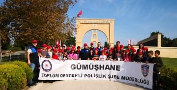 GÜMÜŞHANE POLİSİ'NDEN ÖĞRENCİLER İÇİN ÖNEMLİ GEZİ
