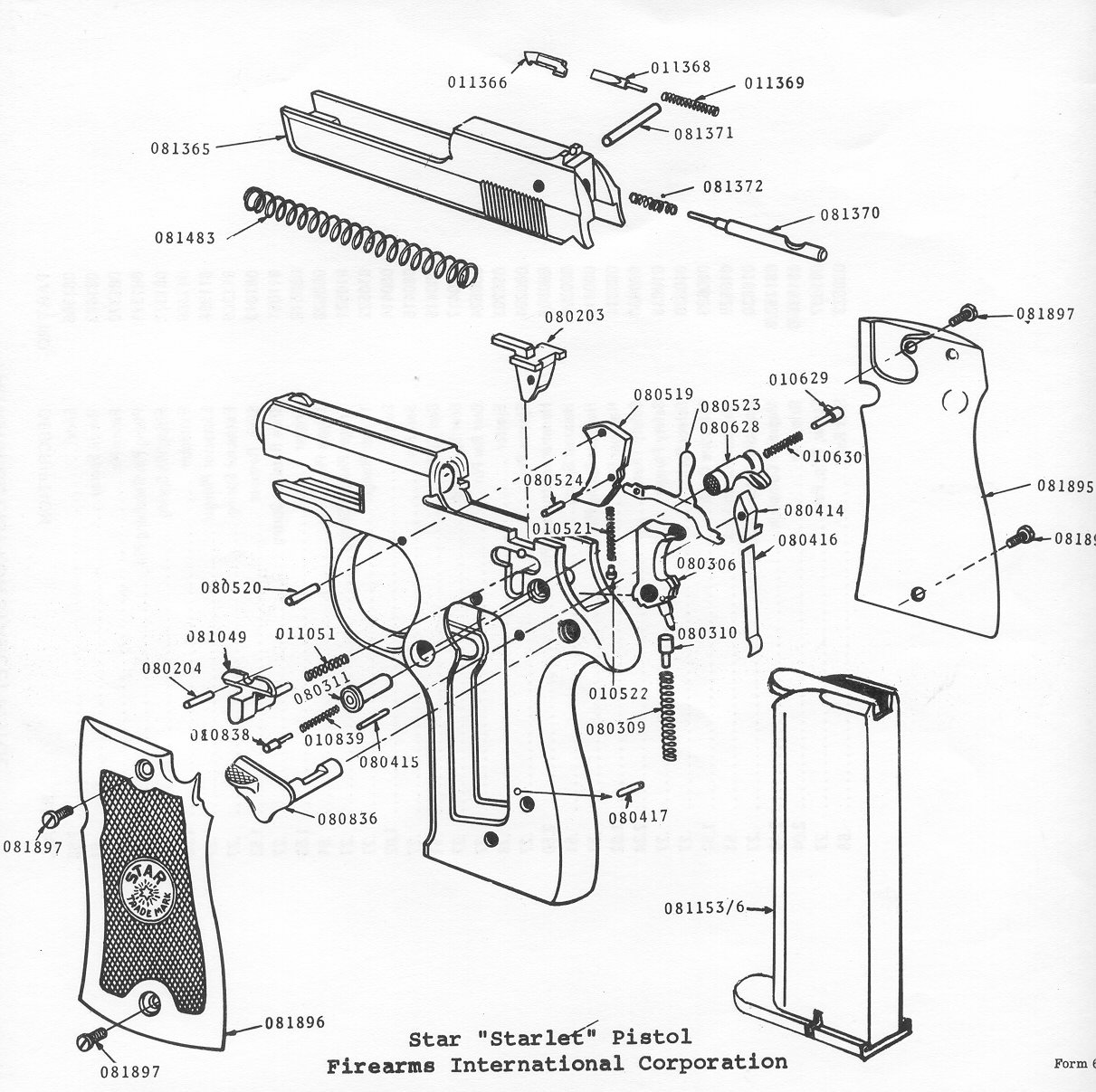 Phoenix Arms 25mm Handgun Parts