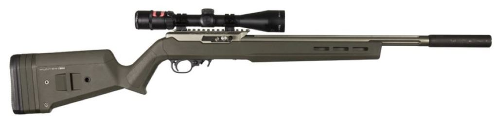 Ruger 10-22 with Magpul X22 stock OD