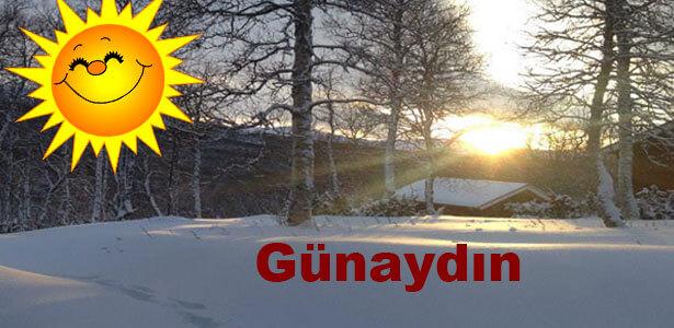 kar manzaralı günaydın mesajları
