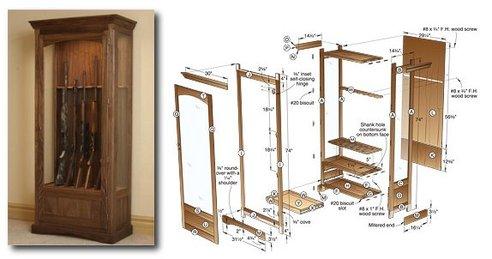 Ordinaire Gun Cabinet Building Plans Free
