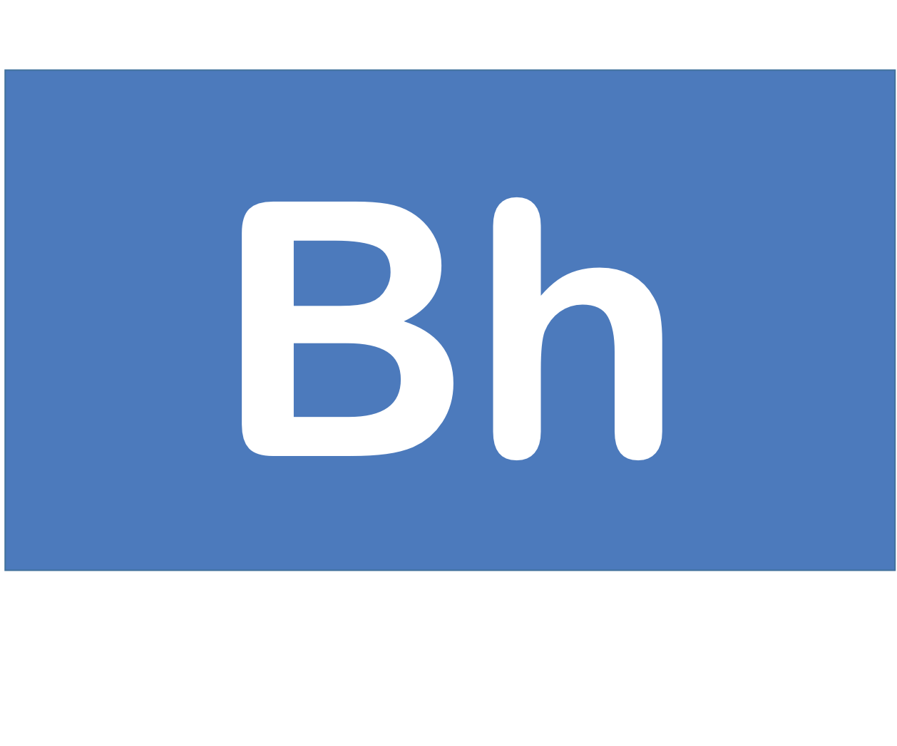 107 Bh ボーリウム Bohrium 元素 記号 周期表 化学 原子