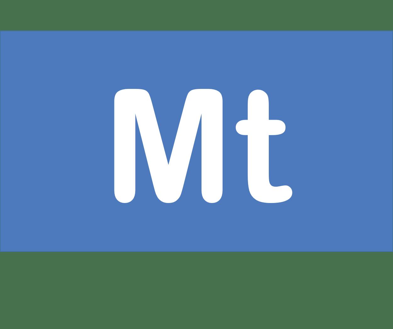 109 Mt マイトネリウム Meitnerium 元素 記号 周期表 化学 原子
